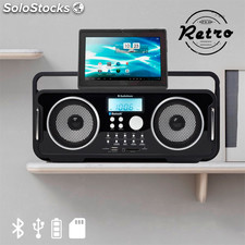 Radio Retrò Bluetooth Ricaricabile AudioSonic RD1556