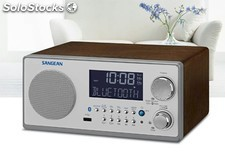 Radio Sangean wr-22BT Walnut, am-FM rds, usb y Bluetooth