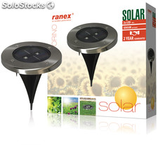 Ranex LED solar de acero inoxidable, ideal para patio o balcón, proporicona