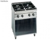 Range, gas with pilot flame with 4 burners,Standard 700