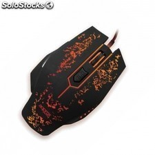 Raton gaming APPROX appforce - 2400dpi - cool design - LED 7 colores - 6 botones