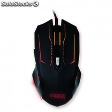 Raton gaming APPROX appphantom - sensor optico 1200/2400dpi - 6 botones - 6600