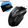 Raton gaming keep-out x4 + alfombrilla gaming keep-out r1 - laser 2500dpi 8