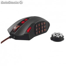 Raton gaming trust gxt 166 - laser - 18 botones programables - pesos ajustables