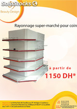 rayonnage supermarché pour coin