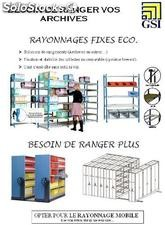 Rayonnages fixes ou mobiles