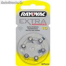 Rayovac pila audiofono zinc 10AE extra advanced 0%mg blister*6