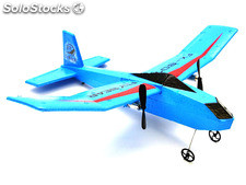 RC Airplane 2 Channel Flybear 807 RTF with 2,4 Ghz remote control (blue)