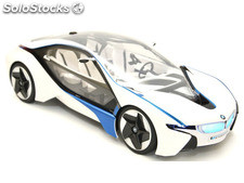 RC Car BMW I Vision Conept i8 with license 114 (white-black-blue)