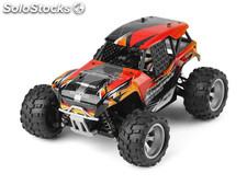 RC Monster Truck 118 - Potent 4WD Energy 2.4GHz 25 km/h (Black-Red-Orange)