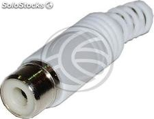 Rca-f Connector (White) (CM12)