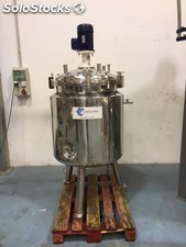 Reactor 400 litros en acero inoxidable 316 con serpentin interior de segunda man