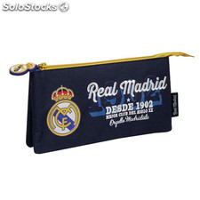 Real Madrid - Estuche escolar doble Orgullo Madridista