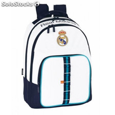 Real Madrid - Mochila escolar doble adaptable a carro