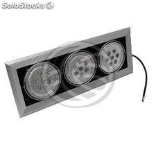 Recessed Downlight LED 3x7W 50x20cm retangular branca neutra (NI93)