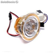 Recessed LED Downlight 3W cool white gold 65mm day (NH62-0003)