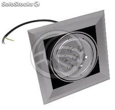 Recessed LED Downlight 7W neutral white 20x20cm square (NI91)