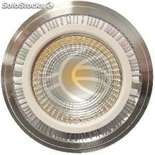 Recessed spotlight AR111 G53 LED-COB 9W 95mm silvery white 6000K cold day (NC98)
