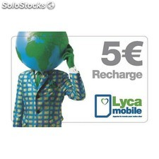 Recharge lycamobile 5€