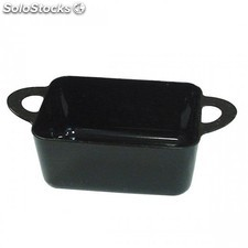 Recipiente para tapas con asas 80 ml 9,6x5x3,5 cm negro ps