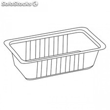"Recipiente termosellable ""barcoper"" - 750 ml 20x12x5 cm transparente pp"