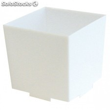 Recipientes cubo apilable con base para tapas & snacks 4,2x4,2x4,2 cm blanco ps