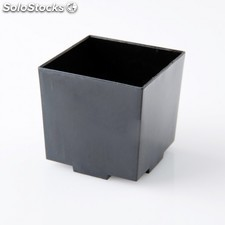 Recipientes cubo apilable con base para tapas & snacks 4,2x4,2x4,2 cm negro ps