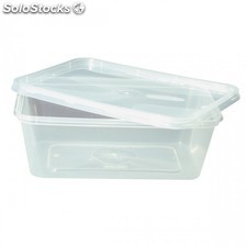 Recipientes rectangulares - 750 ml 16,8X11,6X5 cm transparente pp