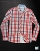 Red & White camisa casual cuadros