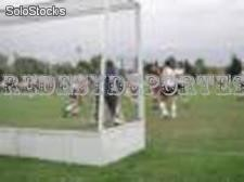 Redes hockey s/cesped 3.70mx2.15m el par
