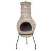 RedFire Chimenea Star Flower arcilla color paja 86037