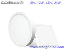 redondo/cuadrado marco panel 18W 24W round square LED panel 3500K 4500k 6500k