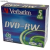 Ref. 31038 Verbatim Dvd-Rw 4x Caja Ancha Mod.43285 Regrabable