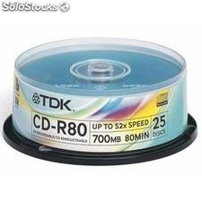 Ref. 31650 Tdk CD-r 52x Tarrina 25pz Cd 700 Mb. 80 Minutos (Tarrina)