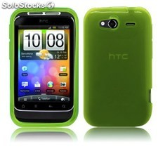 Ref. 36906 Skin Gel Silicona HTC Wildfire S Color Verde