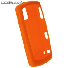 Ref. 36909 Carcasa de Silicona Original para BlackBerry 8100 Color Naranja