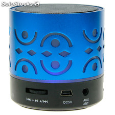 Ref. 44319 | Mini Altavoz Bluetooth L-03 Color Azul y Rojo Mp3, USB y Micro SD