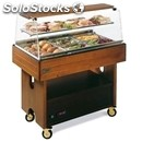 Refrigerated and ambient display and storage trolley - mod. card - solid wood