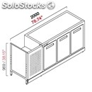 Refrigerated back counter - semi finished, requires panelling - mod. rbbr20063 -