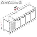 Refrigerated back counter - semi finished, requires panelling - mod. rbbr25055 -