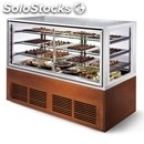 Refrigerated bakery display counter - mod. grgn 140 - two double glazing glass