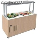 Refrigerated buffet counter with quartz agglomerate flat top mod. venezia svt