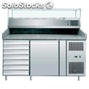 Refrigerated counter/pizza counter tn 304 aisi stainless steel-with 1/3 gn