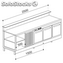 Refrigerated counter - semi finished, requires panelling - mod. bbr25cb3v -