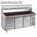 Refrigerated counter - stainless steel aisi 201/ pizza counter nt - for pizza