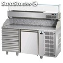 Refrigerated counter - stainless steel aisi 304 / pizza counter nt - for gn 1/1
