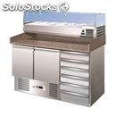 Refrigerated counter - stainless steel aisi 304/ pizza counter nt - gastronorm