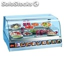 Refrigerated countertop display - series: cheffturbo - stainless steel frame -