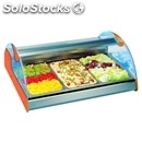 Refrigerated countertop display - series: planetgn1/1 - stainless steel frame -