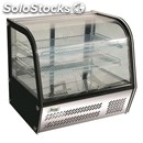 Refrigerated countertop snack display - stainless steel - curved glass - mod.